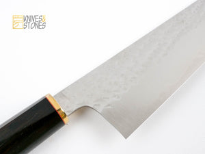 K&S Special Kurosaki Senko (閃光) SG2/R2 Bunka 160mm, with tapered D-shape Ebony handle and FREE SAYA