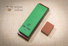 Load image into Gallery viewer, Naniwa Chosera 1000 grit Japanese waterstone with stand