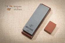 Load image into Gallery viewer, Naniwa Chosera 5000 grit Japanese waterstone with stand