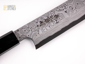 Nigara Anmon (暗紋) Damascus Yanagiba 330mm Blue 2