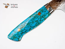 Load image into Gallery viewer, Yoshimi Kato (Kintaro) SG2 - R2 Damascus Gyuto 210mm Western Turquoise Handle