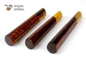 K&S Heart Shaped Snakewood Blonde Horn Handle