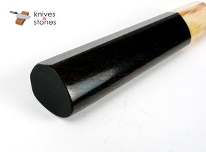 K&S Heart Shaped Ebony Blonde Horn Handle