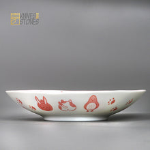 Load image into Gallery viewer, Mino Ware Kids Dish 4 pcs Set Animal Faces Japanese Tableware