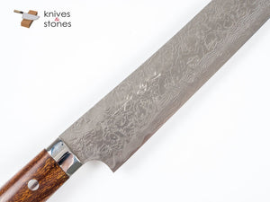 Special: Saji Sakimaru Shaped Sujihiki 240mm Diamond Damascus R2