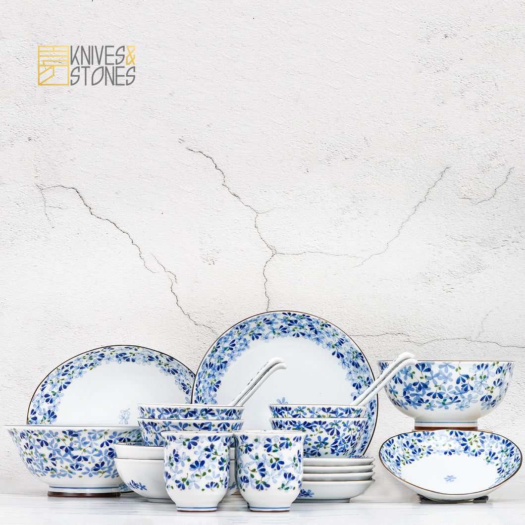 Mino Ware Mebae (芽SPROUT) 24pcs Deluxe Set for 4ppl Japanese Tableware