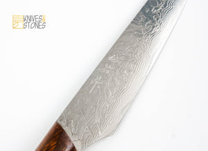 Takeshi Saji SG2 / R2 Damascus Steak Knife with Ironwood handle