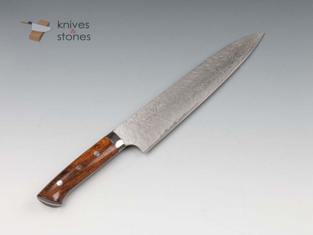 Takeshi Saji Diamond Damascus R2 Gyuto 270mm Ironwood Handle