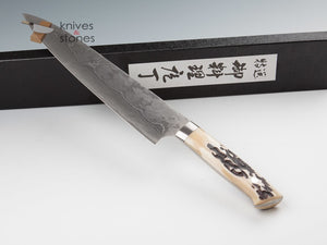 Takeshi Saji Damascus VG10 Gyuto 240mm Stag Handle