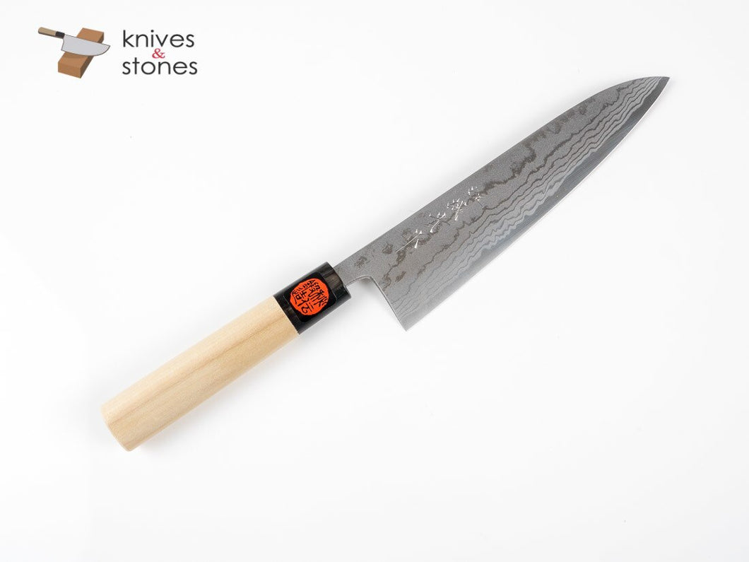 Tanaka Blue 2 Damascus Gyuto 240mm Ho Wood handle
