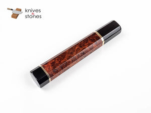 K&S Custom Stabilized Amboyna Burl, Horn Ferrule Double Spacer WA handle