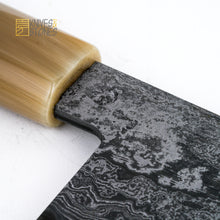 Load image into Gallery viewer, Shoichi Hashimoto (橋本庄市) Blue / White Damascus Gyuto 240mm K&S Profile