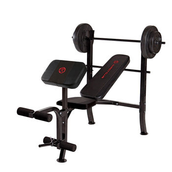 Marcy Standard Weight Bench with 80 lb. Weight Set  MKB 2081