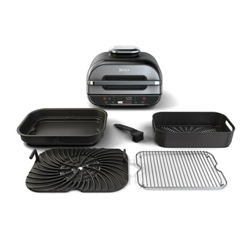 Ninja Foodi XL 5 in 1 Indoor Grill with 4-Quart Air Fryer, Roast, Bake, Dehydrate BG500A