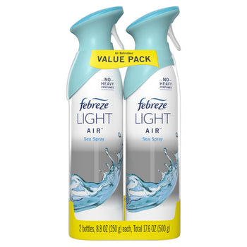 Febreze Light Odor Eliminating Air Freshener Spray Sea Spray 2 ct