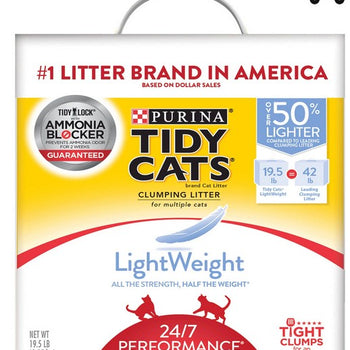Purina Tidy Cats Light Weight, Low Dust, Clumping Cat Litter 24/7 Performance Multi Cat Litter - 19.5 lb. Box