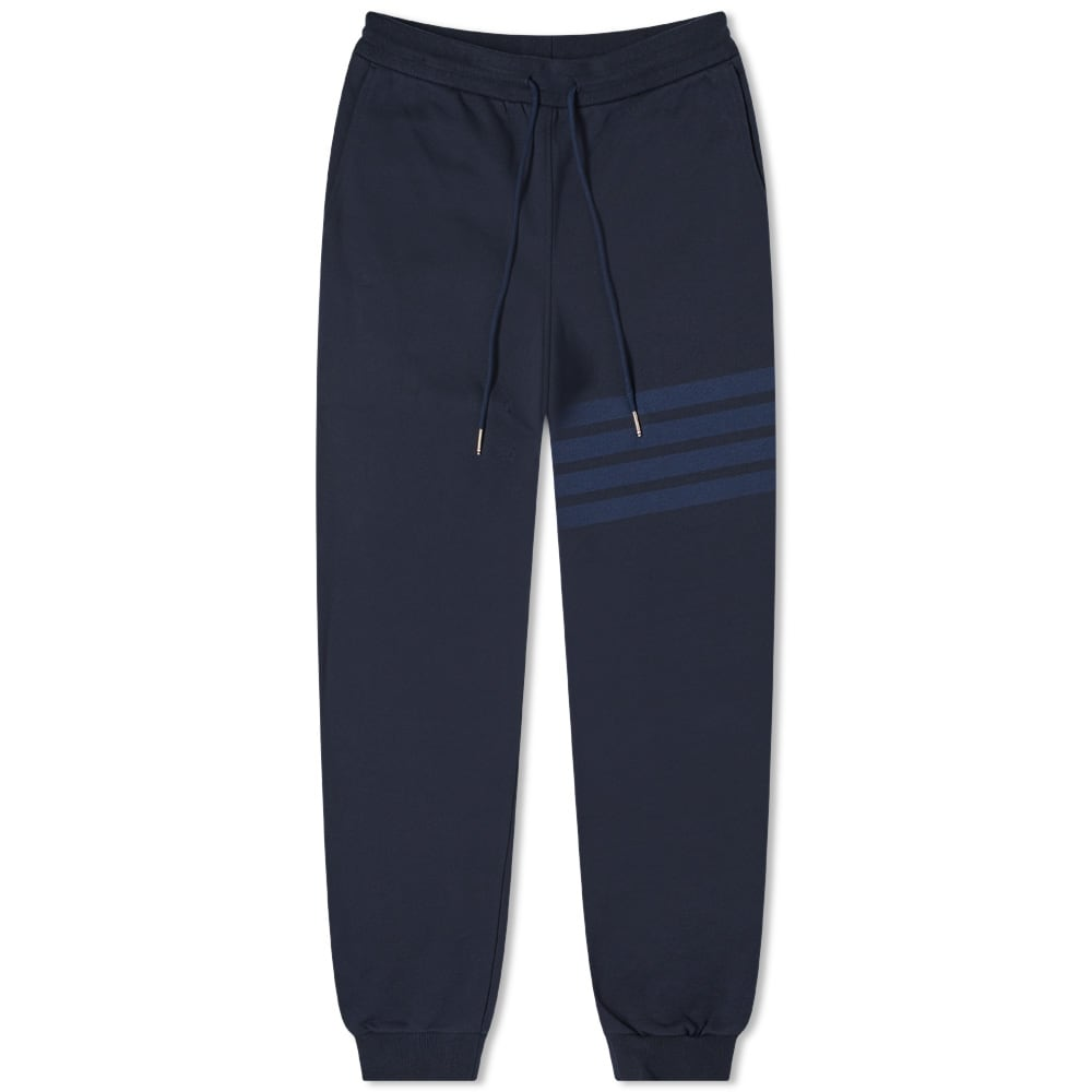 THOM BROWNE SWEATPANTS IN TONAL 4 BAR LOOPBACK - NAVY
