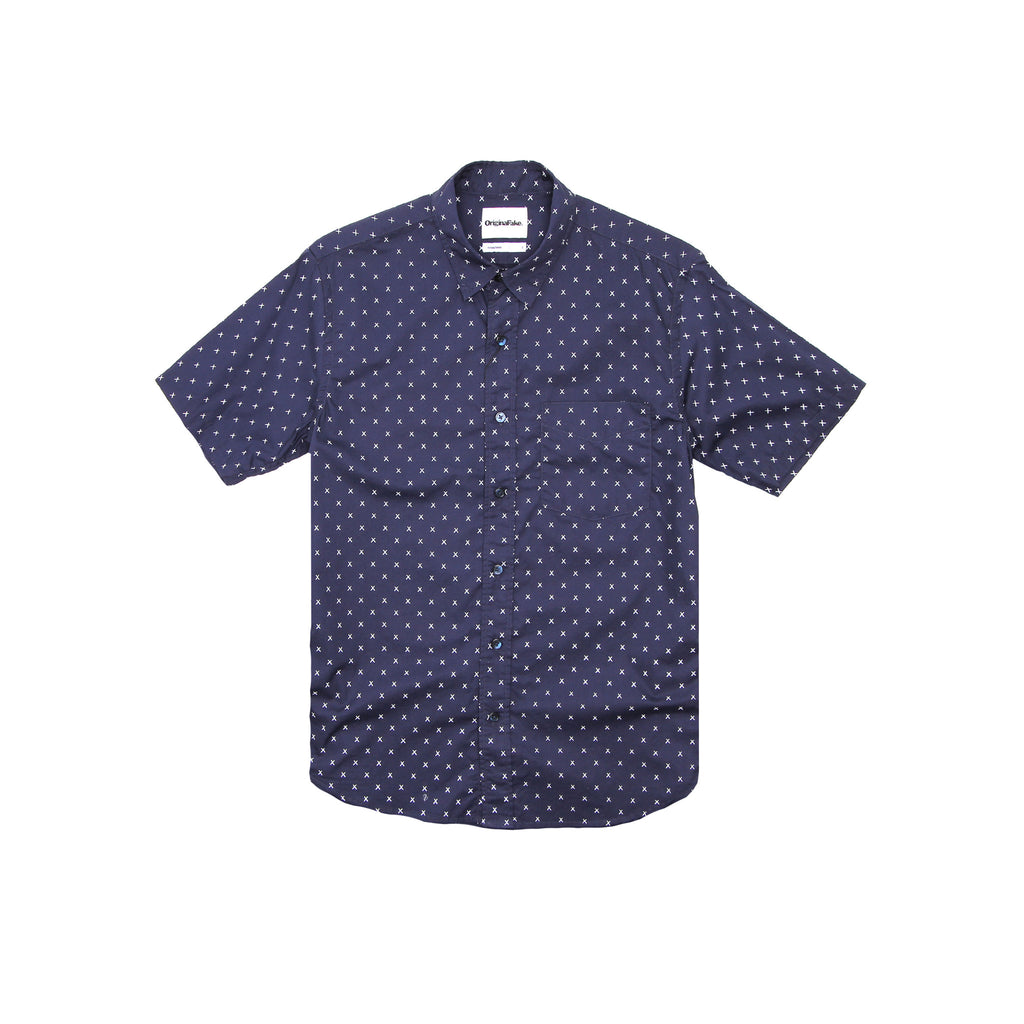 ORIGINALFAKE X EYES SHIRT - NAVY
