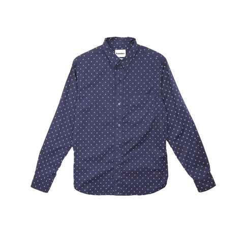 X EYES LONG SLEEVE SHIRT - NAVY