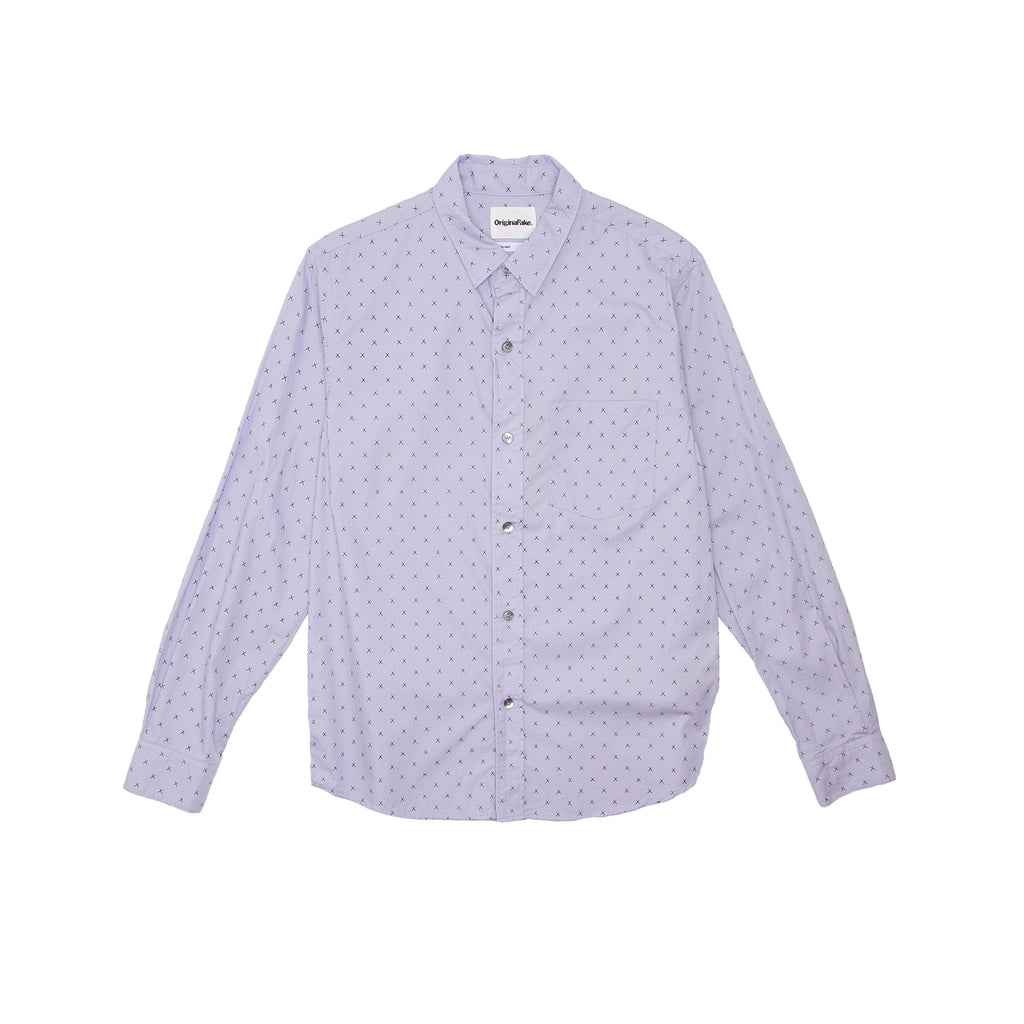 X EYES LONG SLEEVE SHIRT - SAX BLUE