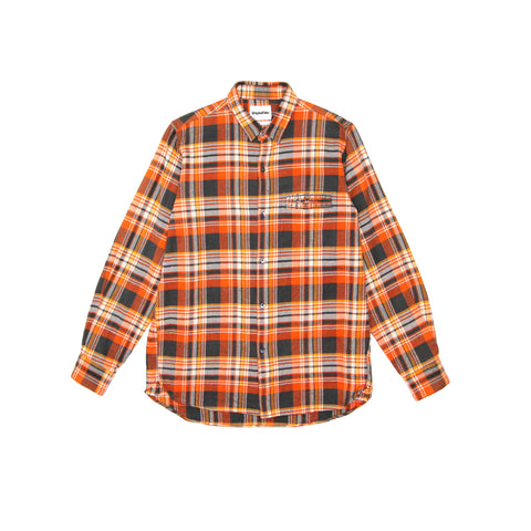 TEETH POCKET FLANNEL - ORANGE