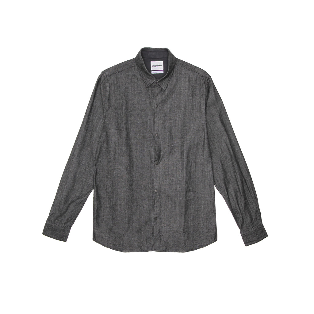 ORIGINALFAKE DENIM LONG SLEEVE SHIRT - BLACK