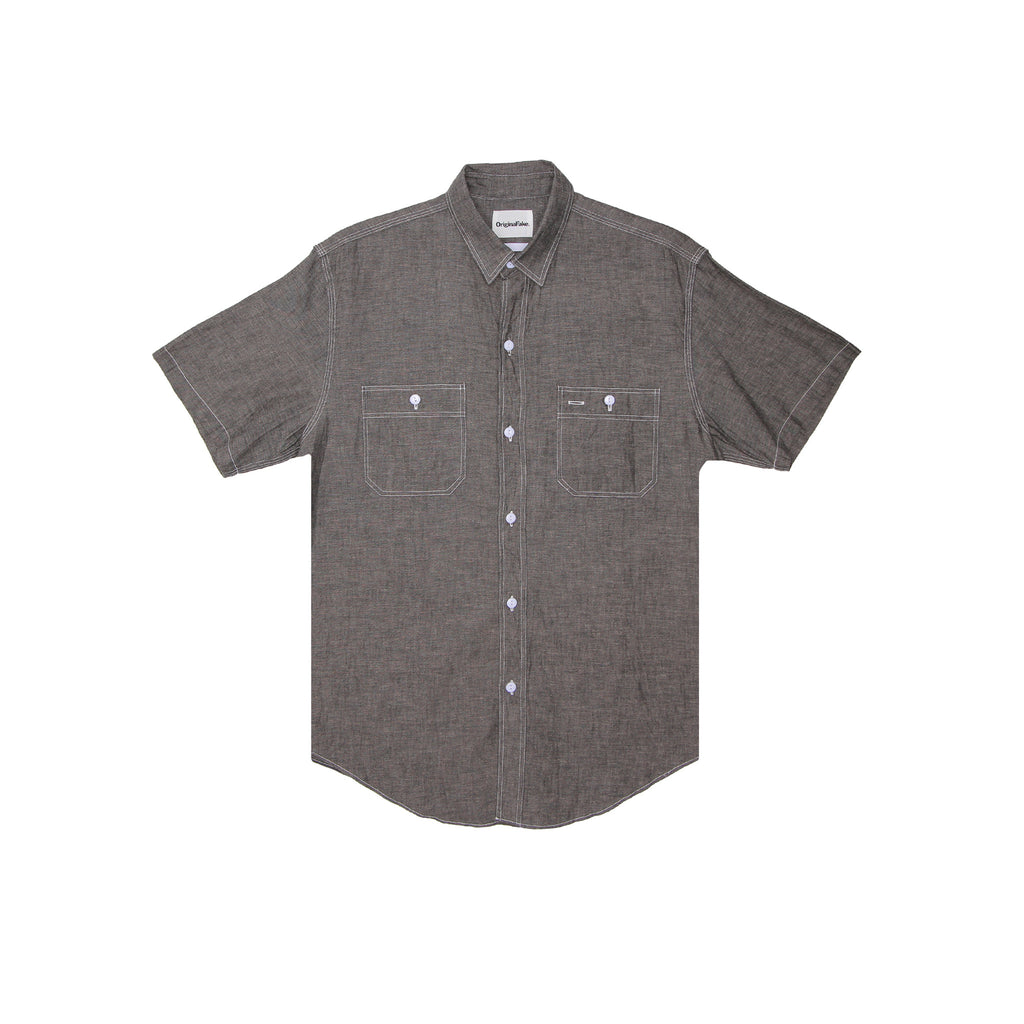 HS BIG X CHAMBRAY SHIRT - BLACK