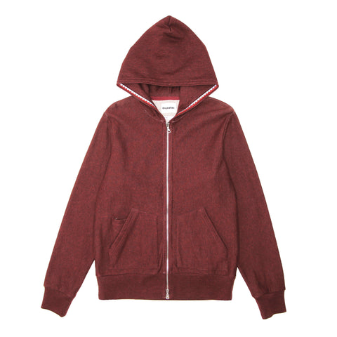 TEETH TAPE ZIP HOODIE - HEATHER WINE