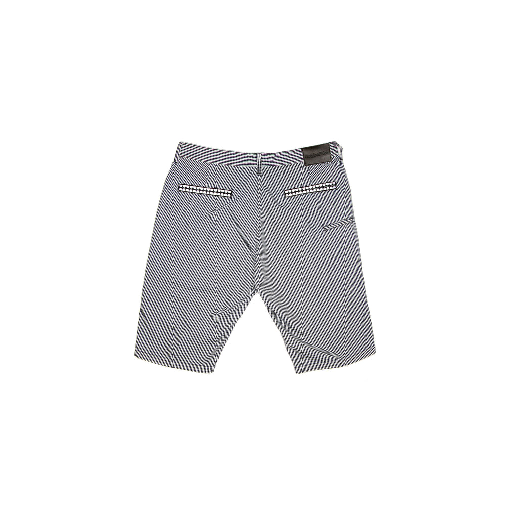 CHECK SHORT - BLACK