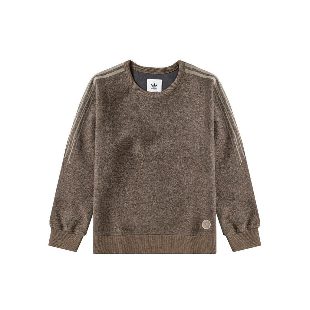 ADIDAS X WINGS + HORNS WOOL CREW - BROWN