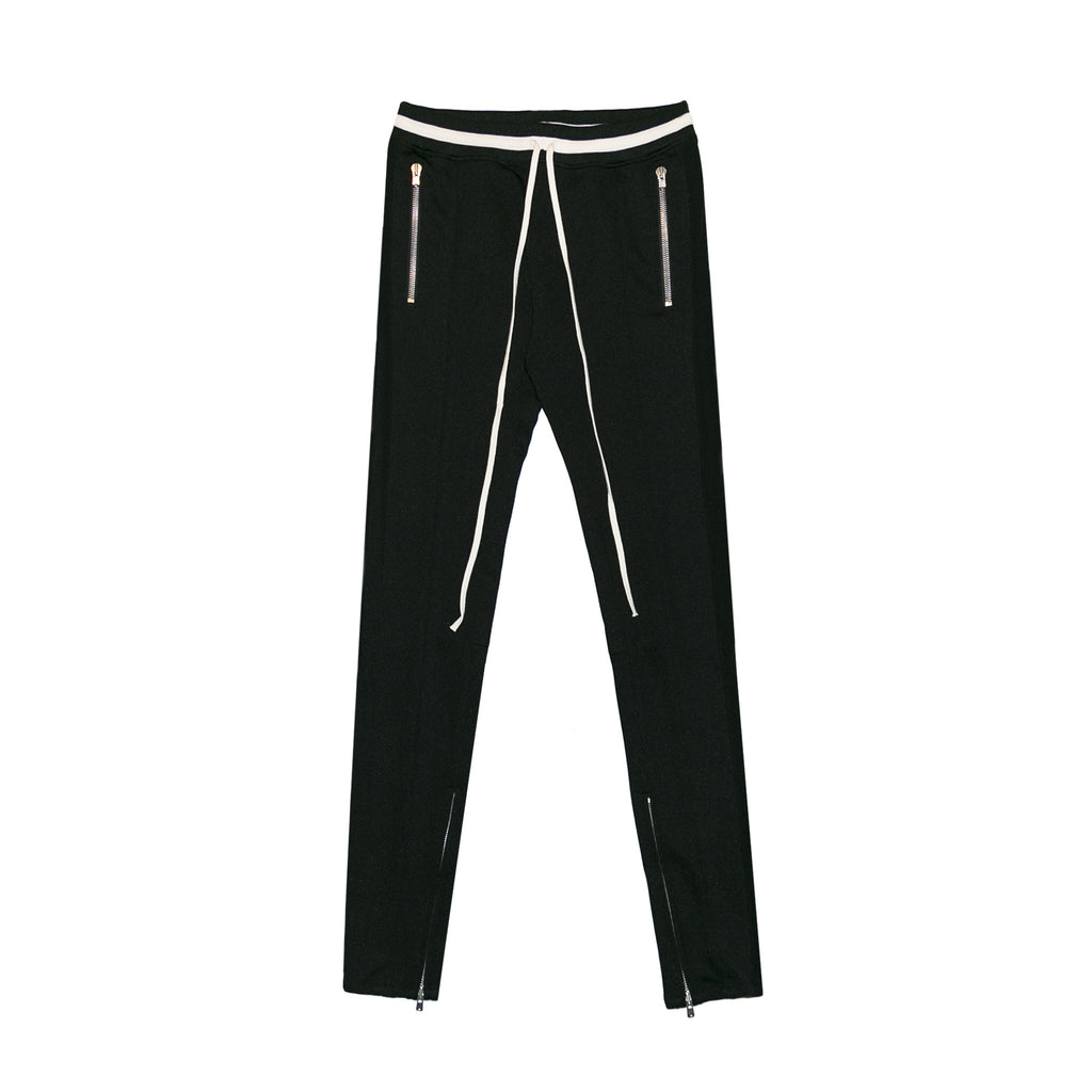 5TH COLLECTION DRAWSTRING TRACK PANTS - BLACK