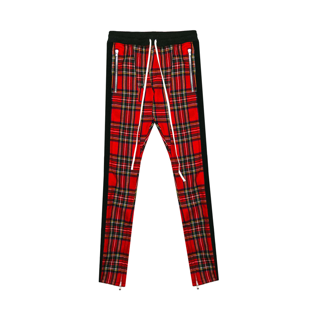 5TH COLLECTION TARTAN WOOL PLAID TROUSERS - RED