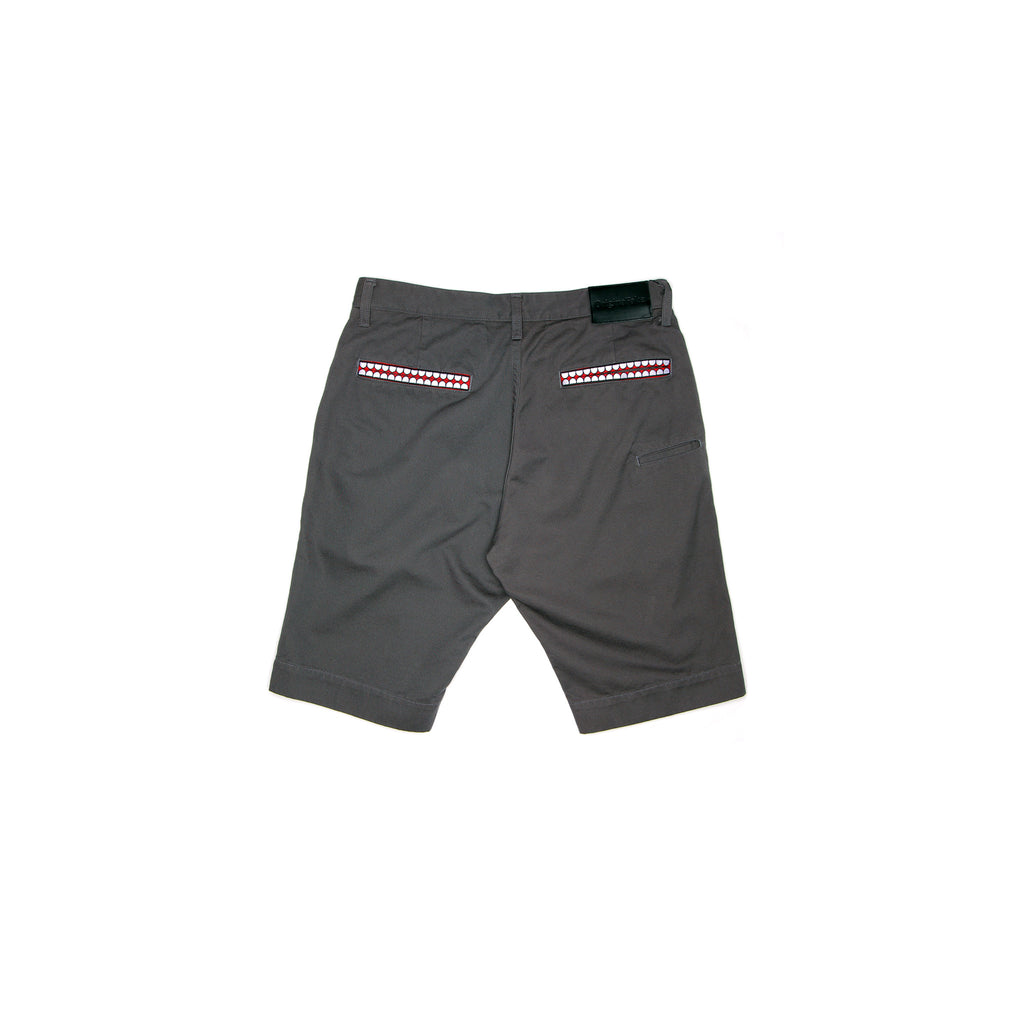 TEETH POCKETS CHINO SHORT - CHARCOAL