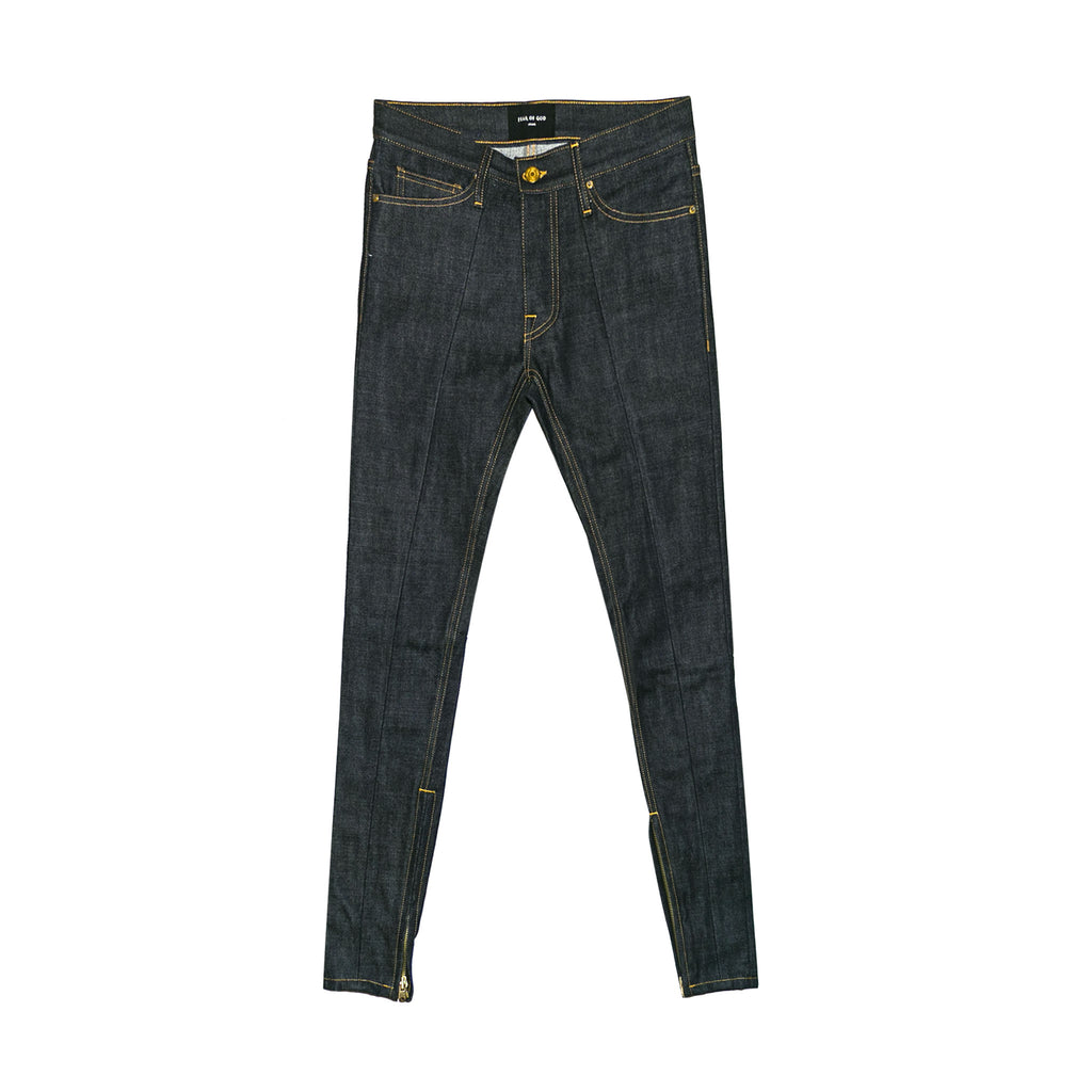 5TH COLLECTION SELVEDGE PANELED DENIM JEANS - INDIGO