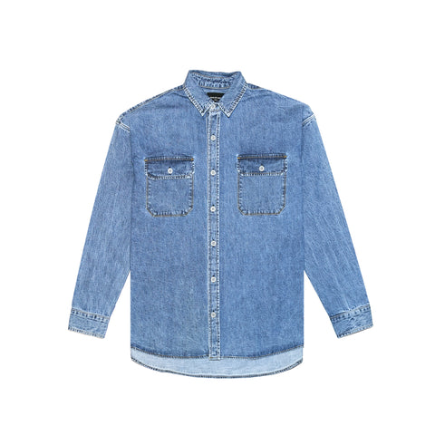 5TH COLLECTION DENIM OVERSIZED SHIRT - INDIGO