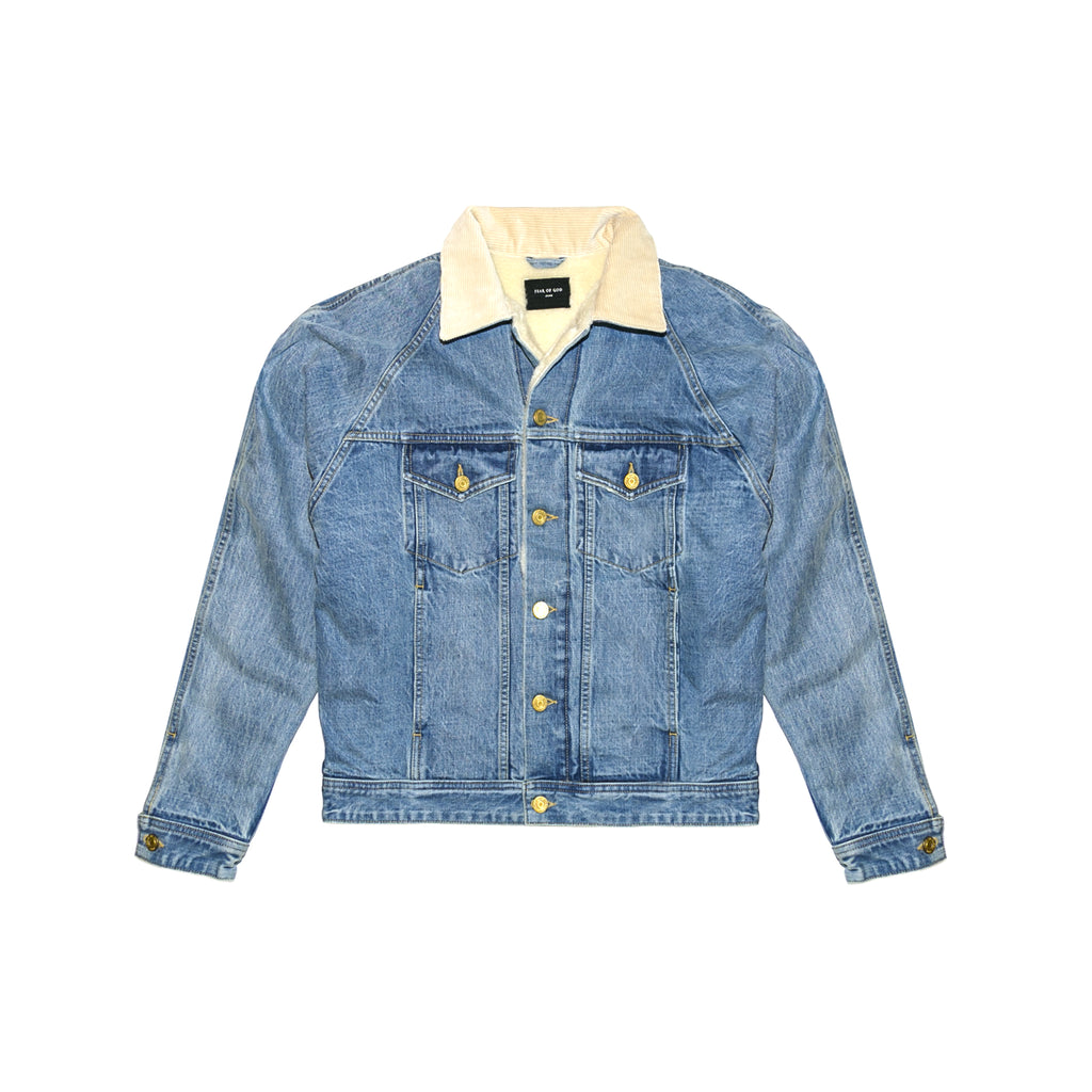 5TH COLLECTION SELVEDGE DENIM ALPACA TRUCKER JACKET - VITANGE INDIGO