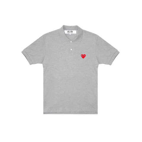 RED PLAY POLO - GREY