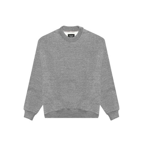 5TH COLLECTION HEAVY TERRY CREWNECK SWEATSHIRT - HEATHER GREY