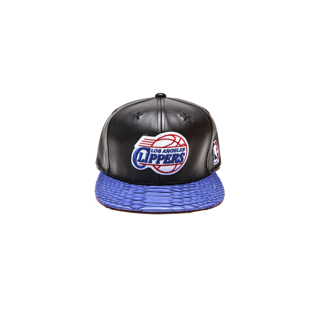 LEATHER LOS ANGELES CLIPPERS LOGO - BLACK