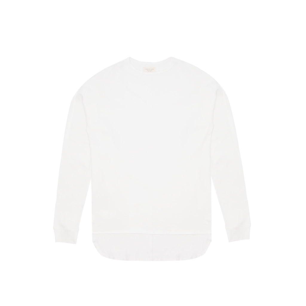 LONG SLEEVE CREWNECK TEE - VINTAGE WHITE