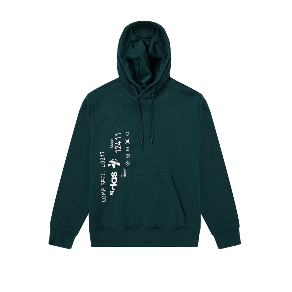 ADIDAS ORIGINALS x AW GRAPHIC HOODIE - GREEN