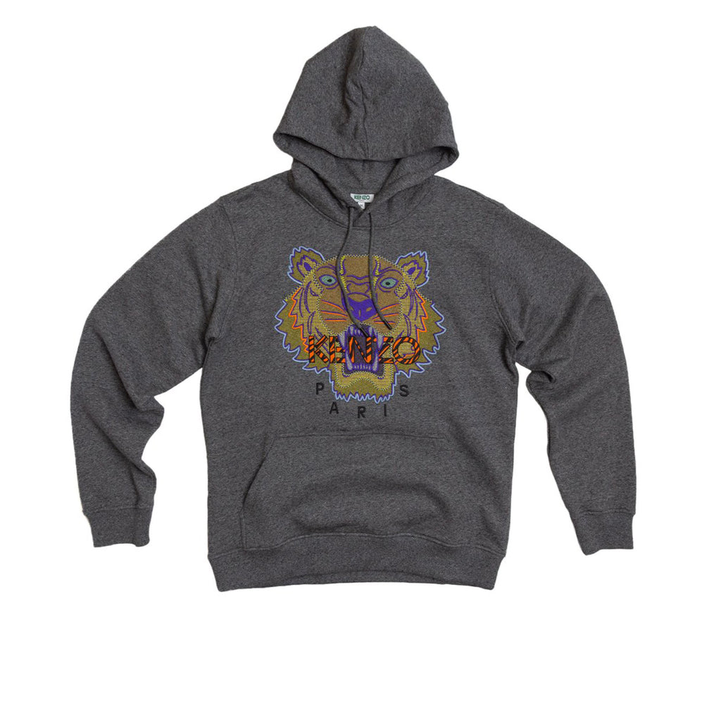 PARIS HIKING TIGER HOODIE - ANTHRACITE
