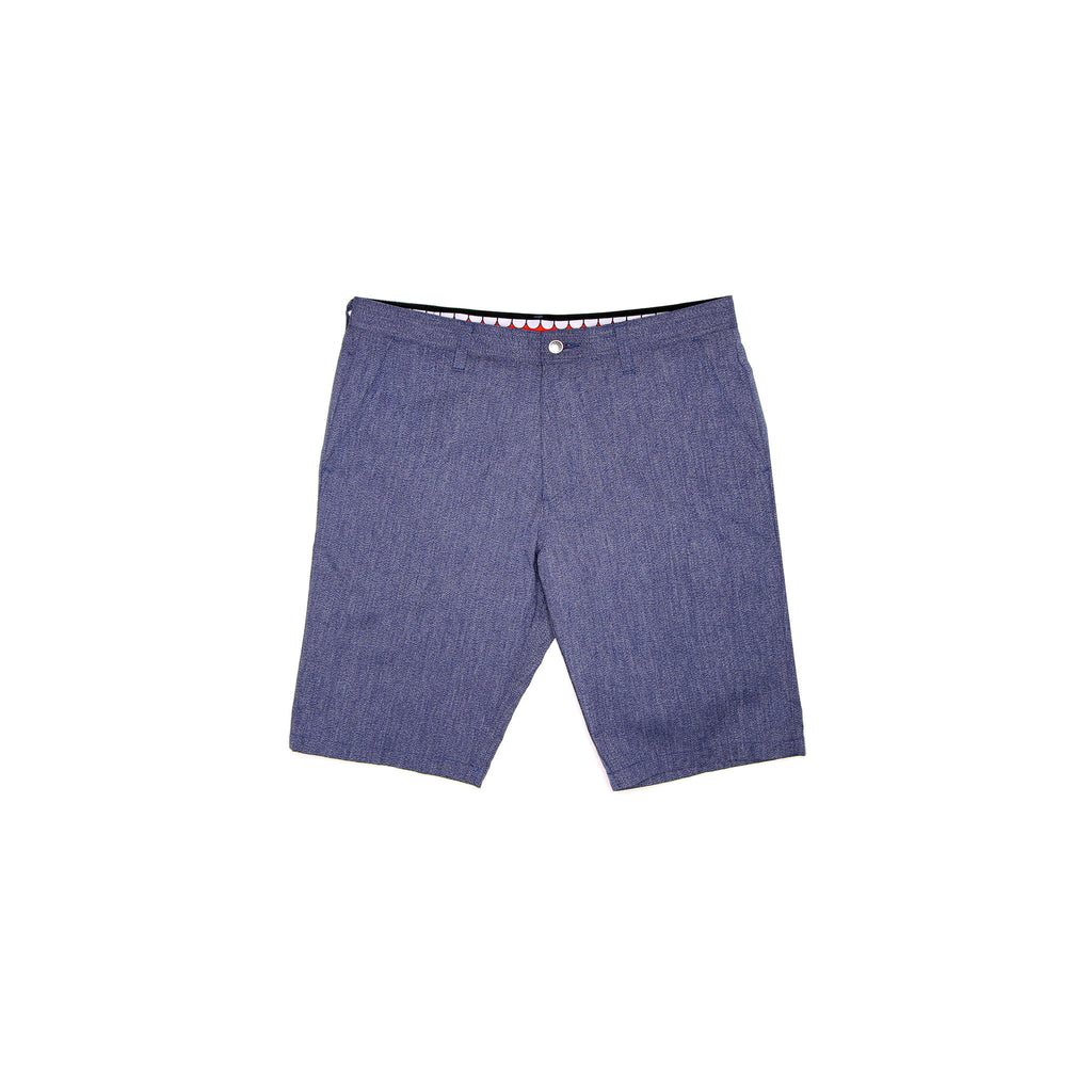 TEETH CHAMBRAY SHORT - BLUE