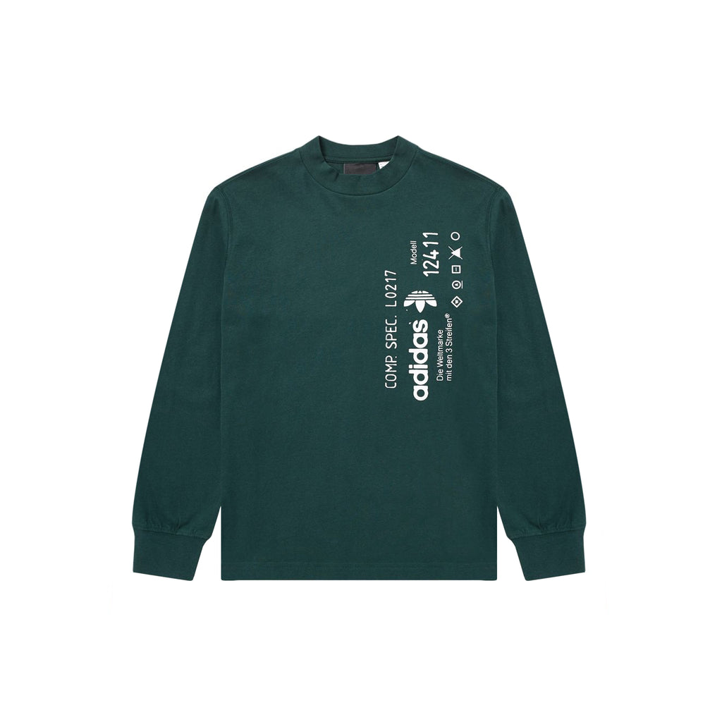 ADIDAS ORIGINALS x AW GRAPHIC LONG SLEEVE - GREEN