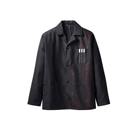 DRAW COACH JACKET - BLACK