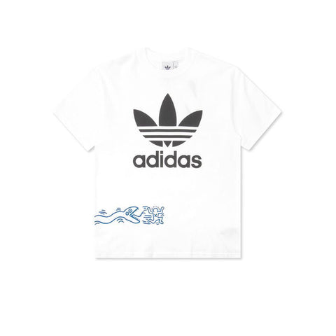 Front of Adidas Keith Haring T-Shirt with Snake Graphic