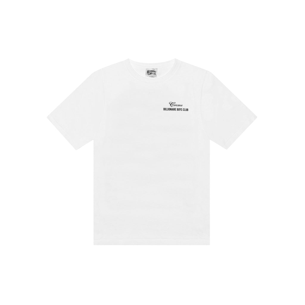 CREME X BILLIONAIRE BOYS CLUB VIRGINIA TEE - WHITE