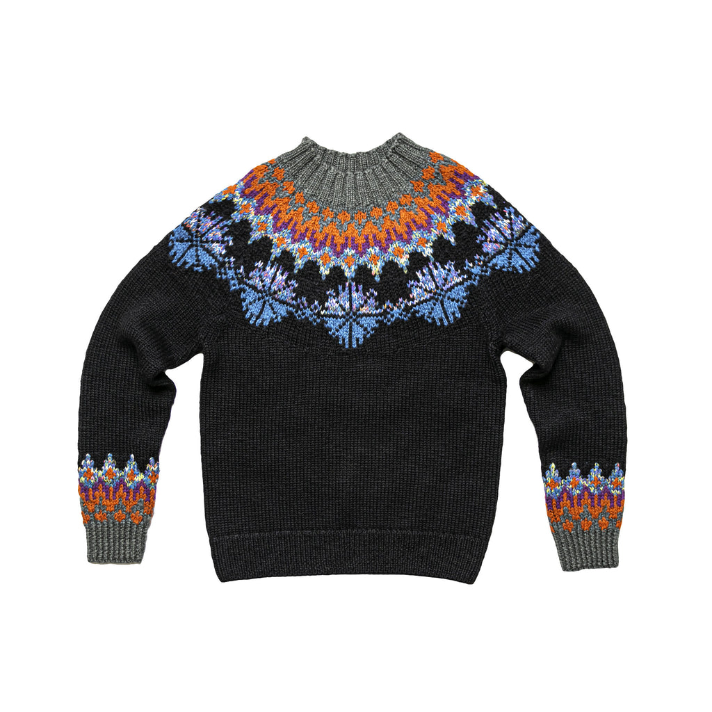 TILES 8708 M.K.SWEATER  - BLACK