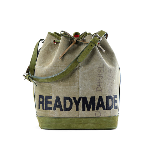READYMADE DRAWSTRING BAG - GREEN