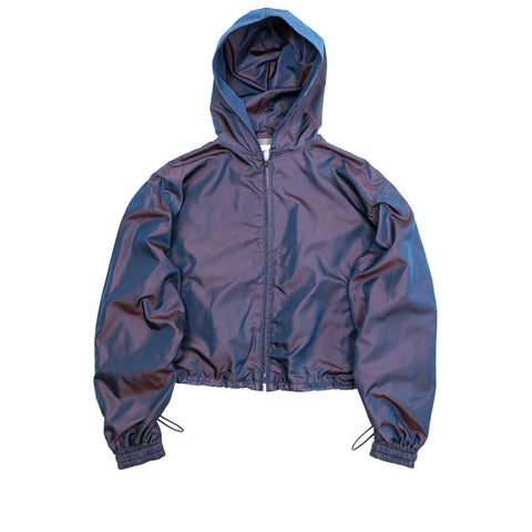6TH COLLECTION NYLON FULL ZIP HOODIE - BLUE IRIDESCENT